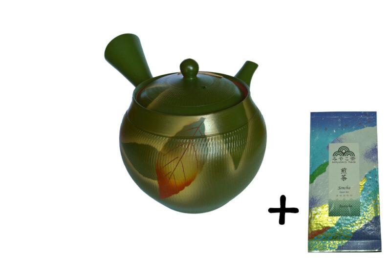 Japonská konvička 360 ml + čaj