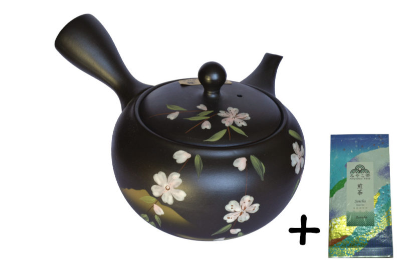 Japonská konvička 450 ml + čaj